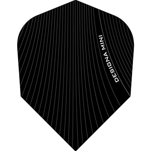 Designa Infusion Dart Flights-Mini Schwarz-10Sets (30)-inklusive Darts Ecke gebogen Kugelschreiber