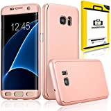 OOAKCESS® - Galaxy S7 Edge - Rose - Etui Coque Housse + Film Protection Integrale 360° Samsung Galaxy S7 Edge