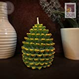 #7: Divine Lights- Christmas Pine Cone Candle (7cm x 5.5cm) -Sap Green