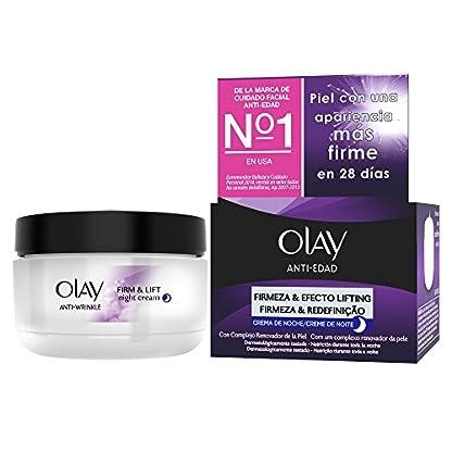 Olay Anti-Edad Firmeza & Efecto Lifting – Crema facial hidratante de noche, 50 ml