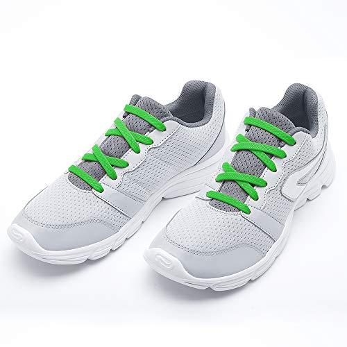 RJ-Sport 20 elastische Schnürsenkel ohne binden Unisex für die Schuhgrößen 24-57, Silikon Schnürsenkel,gummi schnürsenkel elastisch,schnürsenkel gummi elastisch flach für die Kinder und die ()