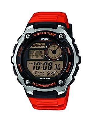 Casio Collection – Reloj Hombre Digital con Correa de Resina – AE-2100W