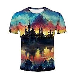 Lingshirt Unisex Men Castle Dusk Funny 3d Printed T-shirt S-xxxl S