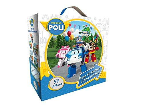 Mon Kit Anniversaire 51 pièces - Robocar Poli