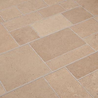 2.12m2 Commercial AC3 Laminate Flooring 8mm - Beige Tile Effect