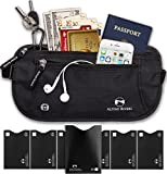 Money Belt for Travelling - Hidden Security Pouch for Cards and Passports