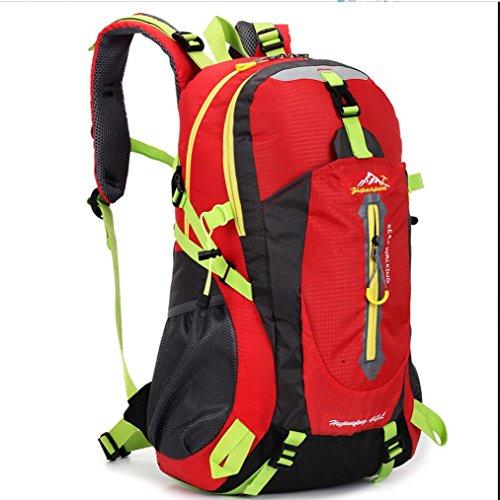 BUSL Im Freienberg Taschen wasserdicht Nylon Urlaubsreisen unisex Schultern Rucksack Red