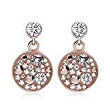 METROPOLITAN - boucles d'oreilles CANNES - dore rose - Made with Crystals from Swarovski