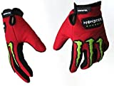 #9: AlexVyan®-Genuine Accessory- Monster Protective Special High QualityFull Hand Riding Gloves, Protective Cycling Byke Bike Motorcycle Glove for Men, Gents, Boys Universal Size (Red)