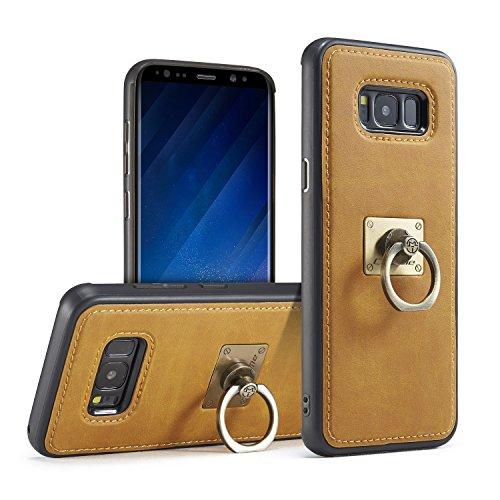 CaseMe PC + TPU iPhone 6s plus rückseitige Fall-Abdeckung, 360 drehende magnetische Ring-Haltewinkel, Standplatz-Telefon-Halter, iPhone 6 plus Kaffee Yellow