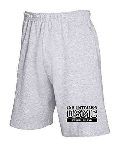 T-Shirtshock - Jogginghose Shorts OLDENG00285 usmc 2nd battalion parris island, Gr L