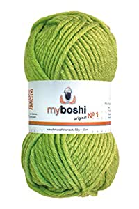 50g myboshi original No.1 Wolle Fb.121 limettengrün