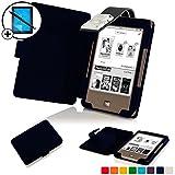 Forefront Cases® Tolino Page Shell Hülle Schutzhülle Tasche Bumper Folio Smart Case Cover Stand mit LED Licht - Leicht mit Rundum-Geräteschutz inkl. Eingabestift und Displayschutz (Dunkel Blau)