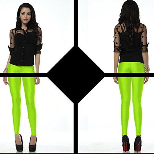 Belsen Damen Elastic Leggings Pants Bleistifthosen Fluorescent Green