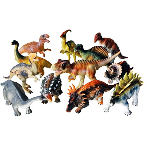 Image of Dinosaur toy plastic figures boxed set of 12 - Large