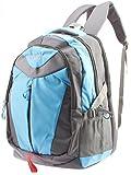 GLEAM Trendy Multicolour School Bag (Sky Blue & Grey)