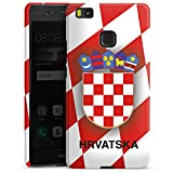 DeinDesign Huawei P9 Lite (2016) Hülle Premium Case Cover Kroatien Em Trikot Football Fussball