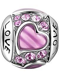 Soufeel Pink Love 925er Sterlingsilber Charm
