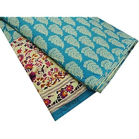 Diseñador Beige Tela de algodón popelín Floral Design 42