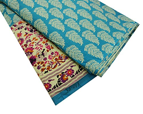 Designer Beige Fabric Cotton Poplin Floral Design 42