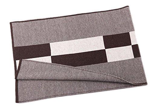 Insun - Echarpe - Homme Brown 100% wool