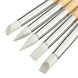 Longyitrade Lot de 5 pinceaux professionnels pour nail art en silicone Motif pois