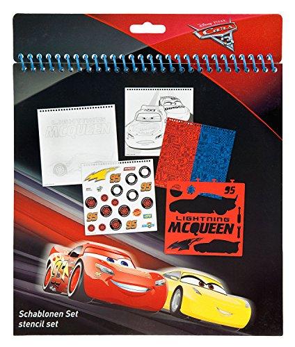 Undercover CAAD1210 - Schablonen Set, Disney Pixar Cars 3, 32-teilig (Schablone Disney)