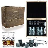 Flow Barware - Juego de vasos de whisky y vasos de whisky de madera...