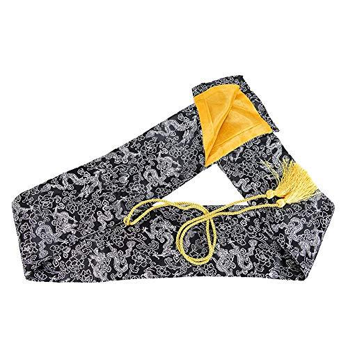 Fcyylight Tai Chi Schwert Prop hochwertige Satin Tasche Black Sword Bag Prop Satin