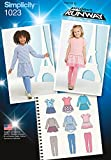 Simplicity 1023 Size A Childs Dress and Leggings Project Runway Collection Sewing Pattern, Multi-Colour