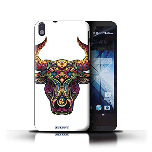 Kobalt® Imprimé Etui / Coque pour HTC Desire 816 / Taureau conception / Série Animaux décoratifs Taureau