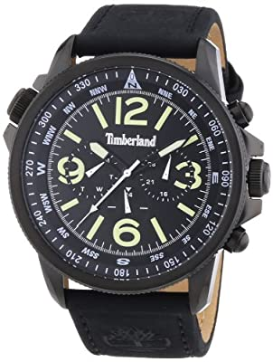 Reloj Timberland TBL.13910JSB/02 de cuarzo para hombre, correa de cuero color negro de Timberland