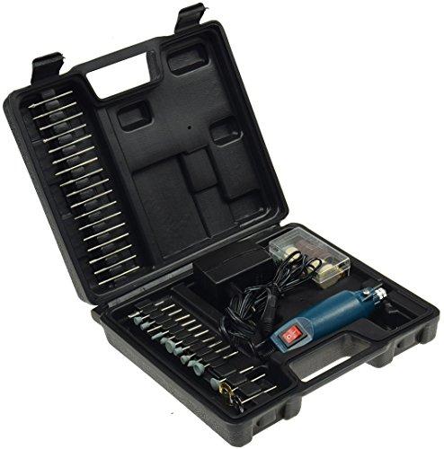 "Preisvergleich Produktbild Mini-Bohrmaschine Gravur & Fräs Set ""Drill-Power V2"" 12V=, 12.000UpM, 63-teilig, viel Zubehör"