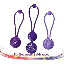 ACVIOO® Bolas Chinas Suelo Pelvico de Silicona Medica Bolas Chinas Terapeuticas Masajeador de la Salud Kegel Ejercitador Vibrador Kegel Balls para Mujer