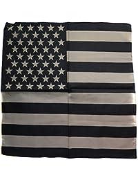 bandana drapeau usa us foulard protege cou motard moto noir 54x54cm import  usa coton c95aea65714
