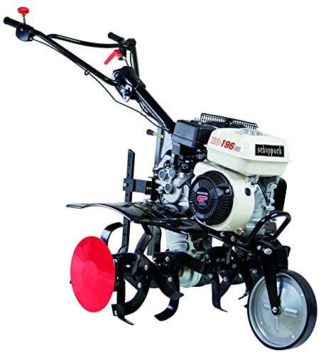 Scheppach 5912305903 Bodenhacke/Benzin-Motorhacke MTP860 H | für alle Pflug- und Bodenlockerungsarbeiten, einfaches und komfortables Arbeiten | leistungsstarker Honda GP200 Motor mit 196 cm³, 6,5 PS