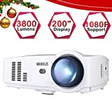 Best Home Cinéma Projecteurs - Vidéoprojecteur, WiMiUS 3800 Lumens Projecteur Full HD Supporte Review