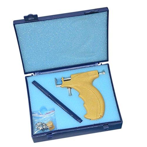 Anself Ohrlochpistole Set Sicherheit Ohr Nase Nabel Körper Piercing Gun Kit