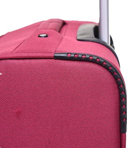 BEIBYE 8009 TSA Schloß Stoff Trolley Reisekoffer Koffer Kofferset Gepäckset (Rot, M) - 6