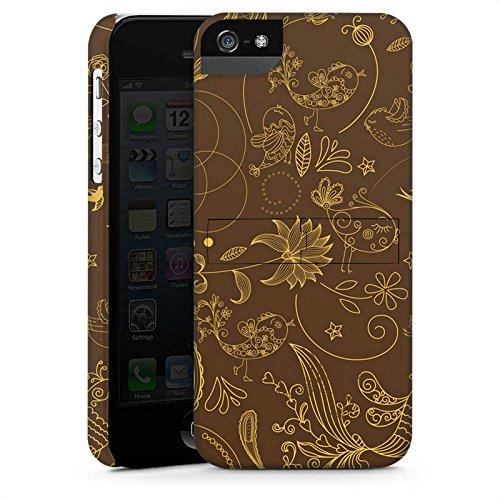 Apple iPhone 4 Housse Étui Silicone Coque Protection Motif Paisley Vert marron Ornements CasStandup blanc