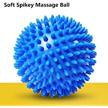 Pelota de lacrosse para masaje bola masajeador de pies con pinchos cammate con Spike para mejorar la reflexología y movilidad rodillo para Trigger Point Liberación Miofascial y Fascitis Plantar azul