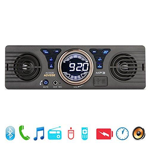PolarLander Universal 1 Din 12V In-Dash Auto Radio Audio Player Eingebaut 2 Lautsprecher Stereo FM Unterstützung Bluetooth mit USB / TF Card Port