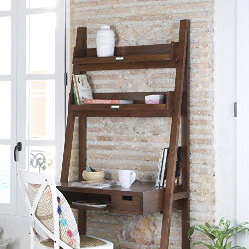 Ladder Bureau 84 - Bois - 83x55x184 cm - Couleur Teck