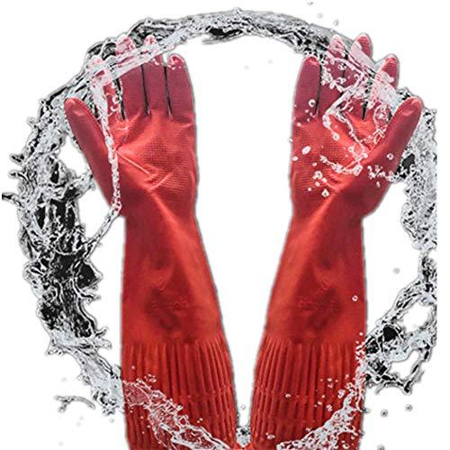 Distinct® Elastische Gummi Latex Dish Waschen Lange Handschuhe Hausarbeit Küchenreinigung Handschuhe