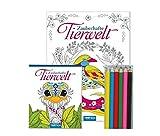 """Malset """"Zauberhafte Tierwelt"""": Mit 6 Stiften"""