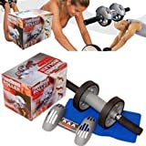 #7: HARSHEEN SALES Powerstretch AB Wheel Roller Exercise Fitness Slim Body Roller Power Stretch