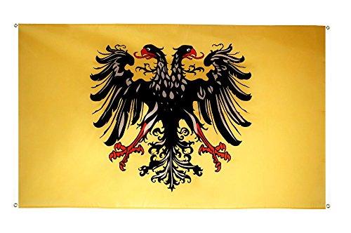 Flaggenfritze® Balkonflagge Heiliges Römisches Reich Deutscher Nation nach 1400 - 90 x 150 cm