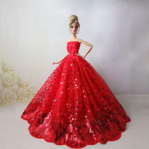 Zantec Abbigliamento per Barbie Abito da Sera con Paillettes Vestito  Principessa Abito da Sposa per 30cm ef20b4f898c8