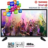 "Telefunken TV LED 32"" Televisore Smart TV Internet 2x HDMI"