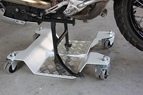 Pedana carrello sposta moto accosta moto per maximoto for Carrello sposta auto